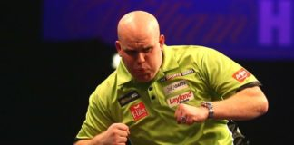 WK Darts 2017 Michael van Gerwen tegen Snook of Viljanen Getty