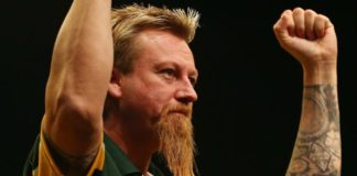 Programma WK Darts vandaag met Simon Whitlock gokken bookmakers darts Getty