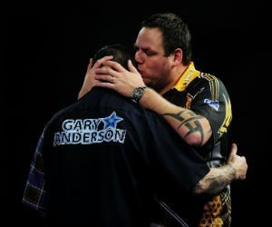 Adrian Lewis Gary Anderson Premier League Darts Getty