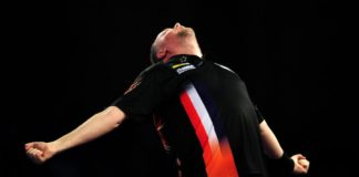 Raymond van Barneveld - Danny Noppert Grand Slam of Darts live GEtty