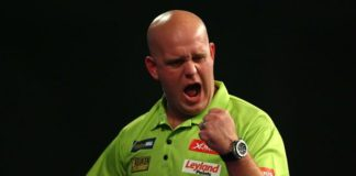 Michael van Gerwen Premier league of Darts 2016 finale getty