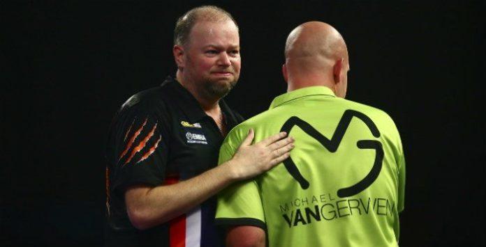 Competitie Premier League of Darts deze week in Rotterdam. Voor Raymond van Barneveld alles of niets | Getty