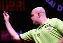 Michael van gerwen Dubai Darts Masters getty