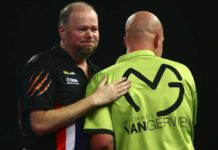 Michael van Gerwen - Raymond van Barneveld Premier League Darts wedden live Getty