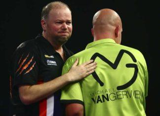 Michael van Gerwen - Raymond van Barneveld WK Darts wedden bookmakers voorspellingen darten Getty