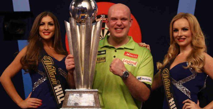 Wedden op Michael van Gerwen winnaar WK Darts wereldkampioen Getty