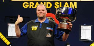 Programma Grand Slam of Darts bookmakers Raymond van Barneveld - Rob Cross Getty