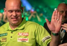 Wedden Michael van Gerwen vandaag de leiding in Premier League Darts bookmakers? Getty