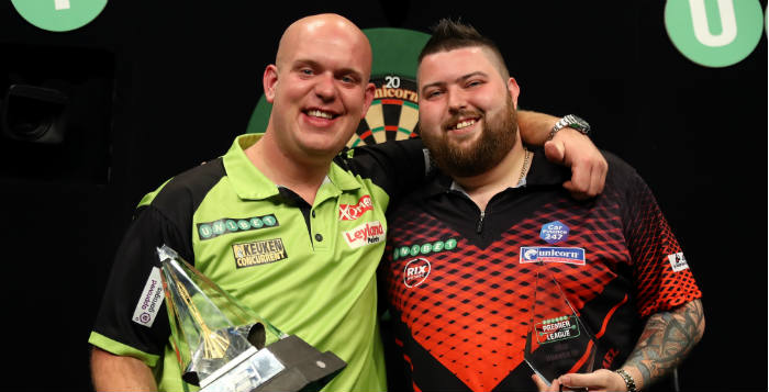 Premier League darts speelschema | Getty