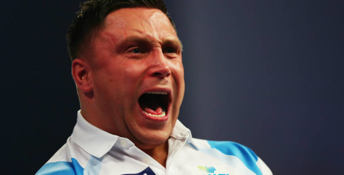 Straf Gerwyn Price voor gedrag tijdens Grand Slam of Darts | Getty