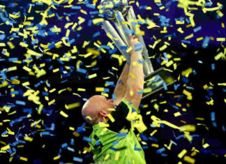 Speelschema WK Darts - Michael van Gerwen winnaar WK Darten | Getty