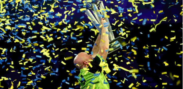 Speelschema WK Darts - Michael van Gerwen winnaar WK Darten   Getty