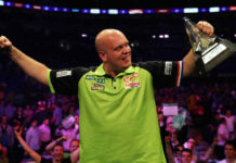 Voorspellen Premier League Darts programma Exeter: Van Gerwen - Wade en Barney - Smith bookmakers | Getty