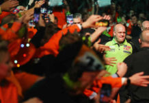 World Cup Darts 2019 Michael van Gerwen Jermaine Wattimena tegen Spanje | Getty